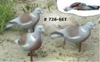 726SET SPORT PLAST комплект из трёх сминаемых муляжей голубя