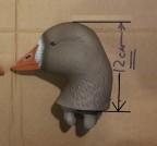 Голова активного гуся GHG 72082